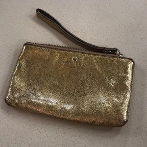 Kate Spade Gold Wristlet